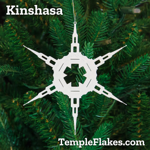 Kinshasa Democratic Republic of the Congo Temple Christmas Ornament