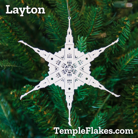 Layton Utah Temple Christmas Ornament