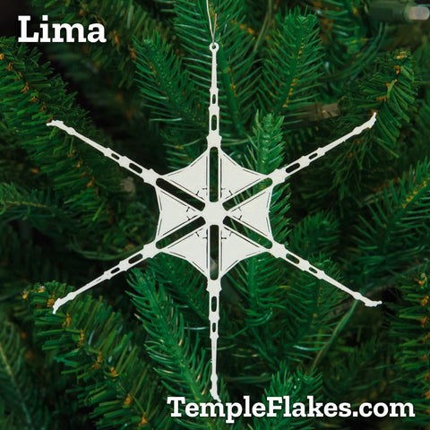Lima Peru Temple Christmas Ornament