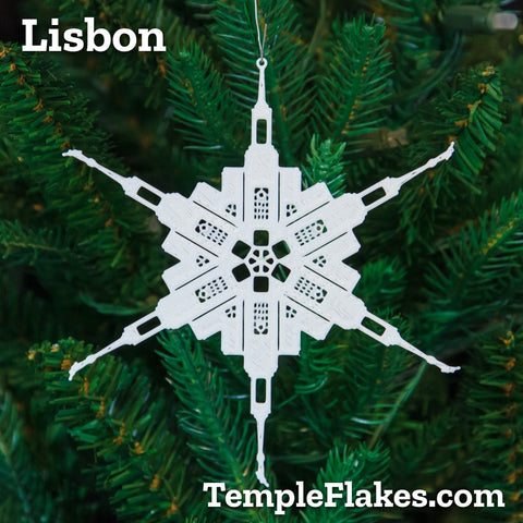 Lisbon Portugal Temple Christmas Ornament