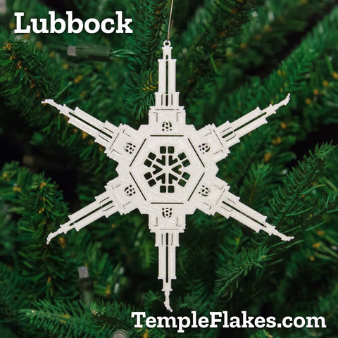 Lubbock Texas Temple Christmas Ornament
