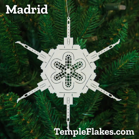 Madrid Spain Temple Christmas Ornament