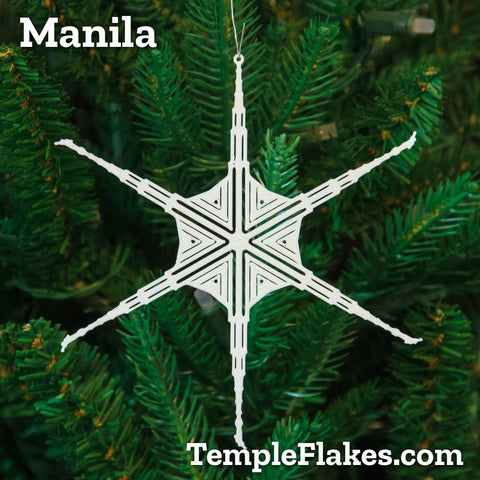 Manila Philippines Temple Christmas Ornament