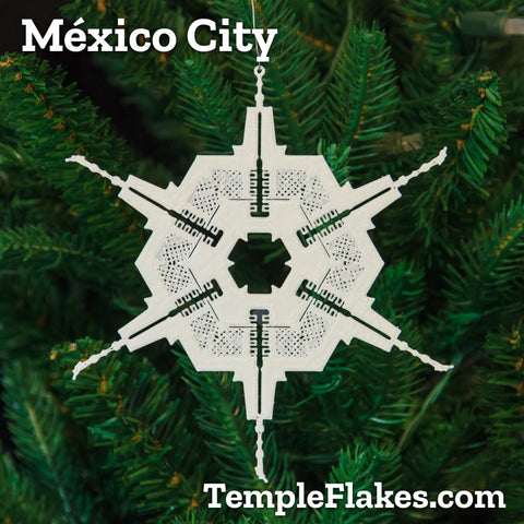 México City México Temple Christmas Ornament