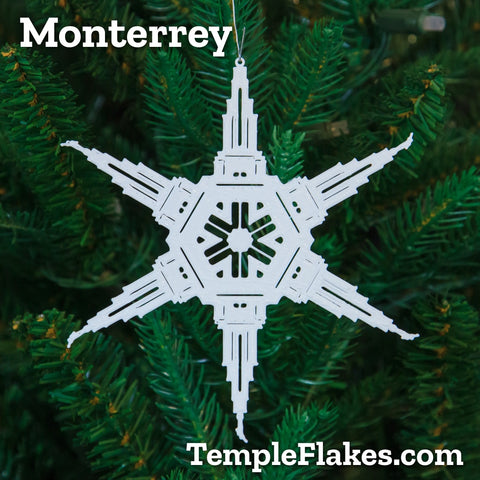 Monterrey México Temple Christmas Ornament