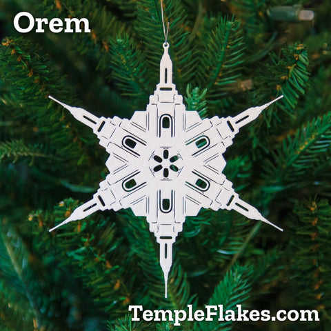 Orem Utah Temple Christmas Ornament