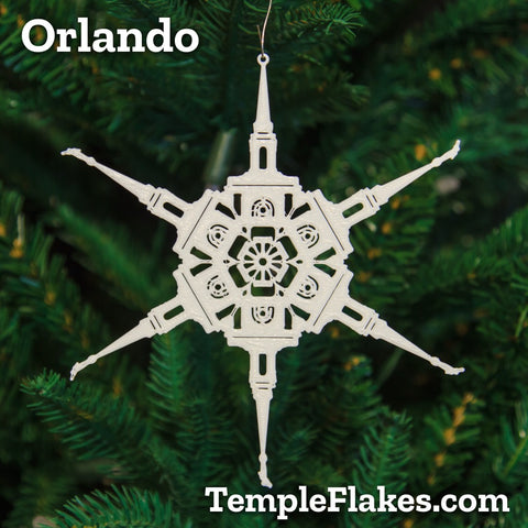 Orlando Florida Temple Christmas Ornament