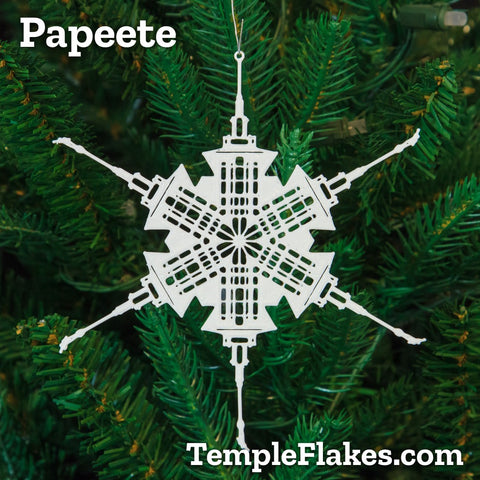 Papeete Tahiti Temple Christmas Ornament