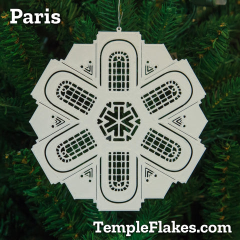 Paris France Temple Christmas Ornament