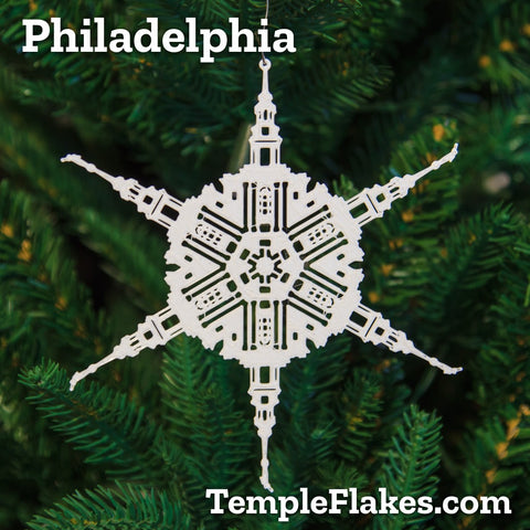 Philadelphia Pennsylvania Temple Christmas Ornament
