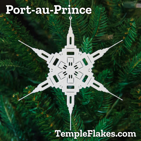 Port-au-Prince Haiti Temple Christmas Ornament