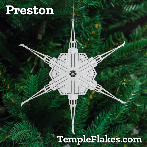 Preston England Temple Christmas Ornament