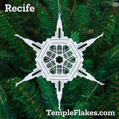Recife Brazil Temple Christmas Ornament