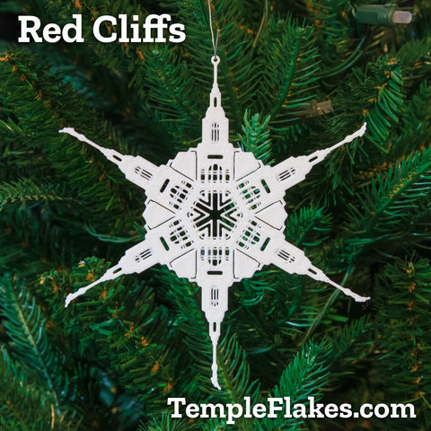 Red Cliffs Utah Temple Christmas Ornament