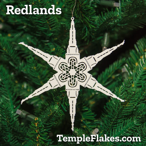 Redlands California Temple Christmas Ornament