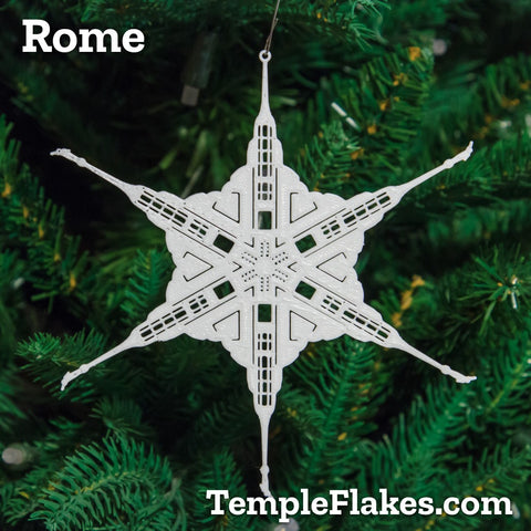 Rome Italy Temple Christmas Ornament