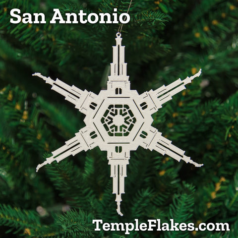 San Antonio Texas Temple Christmas Ornament