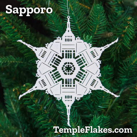 Sapporo Japan Temple Christmas Ornament