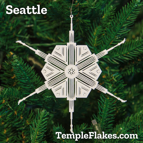 Seattle Washington Temple Christmas Ornament