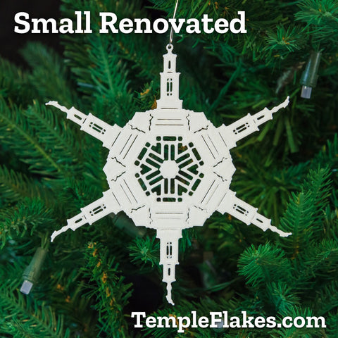 Small Renovated Temples Christmas Ornament