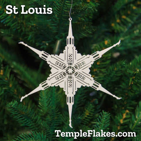 St Louis Missouri Temple Christmas Ornament