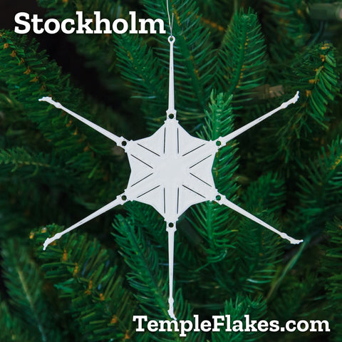 Stockholm Sweden Temple Christmas Ornament