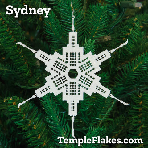 Sydney Australia Temple Christmas Ornament