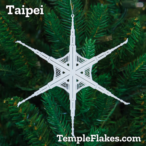 Taipei Taiwan Temple Christmas Ornament