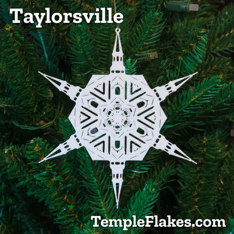 Taylorsville Utah Temple Christmas Ornament