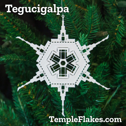 Tegucigalpa Honduras Temple Christmas Ornament