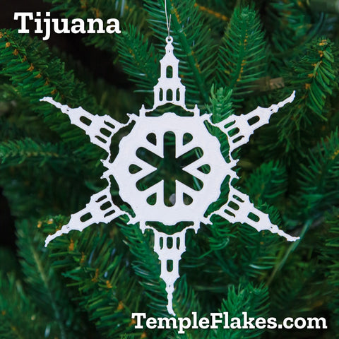Tijuana Mexico Temple Christmas Ornament