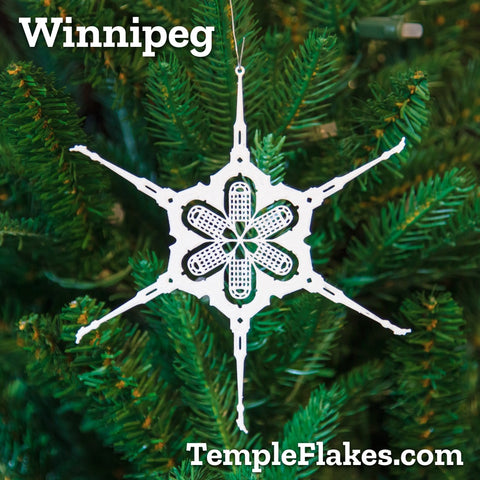 Winnipeg Manitoba Temple Christmas Ornament