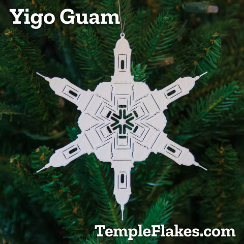 Yigo Guam Temple Christmas Ornament