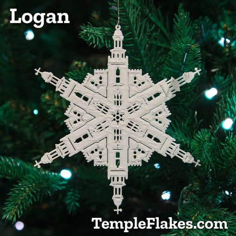 Logan Utah Temple Christmas Ornament