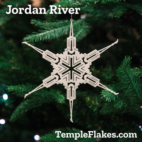 Jordan River Utah Temple Christmas Ornament