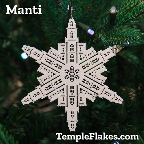Manti Utah Temple Christmas Ornament