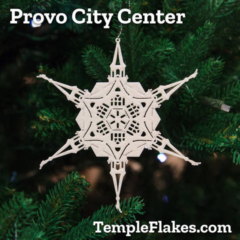 Provo City Center Temple Christmas Ornament