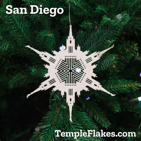 San Diego California Temple Christmas Ornament