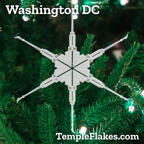 Washington DC Temple Christmas Ornament