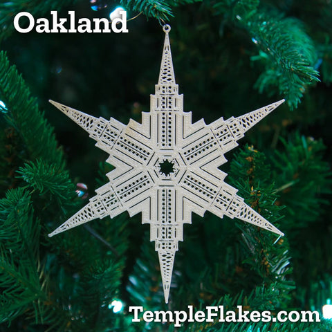 Oakland California Temple Christmas Ornament