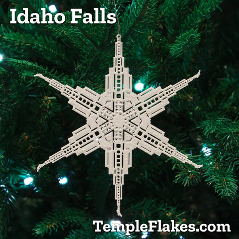 Idaho Falls Idaho Temple Christmas Ornament