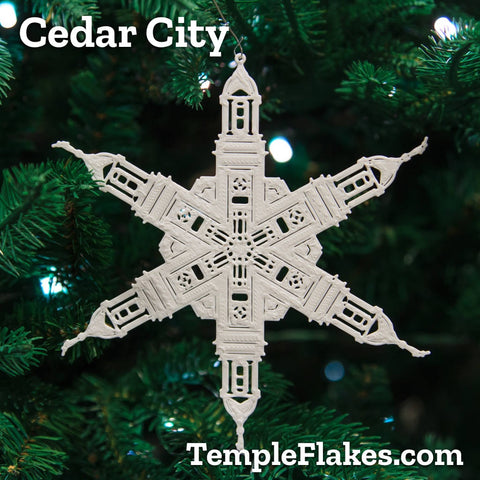 Cedar City Utah Temple Christmas Ornament