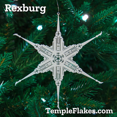 Rexburg Idaho Temple Christmas Ornament