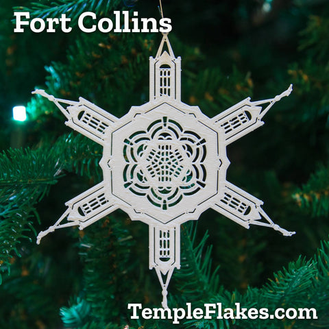 Fort Collins Colorado Temple Christmas Ornament