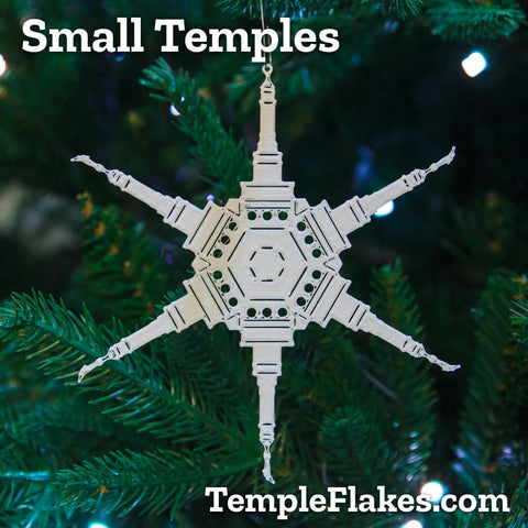 Small Temples Christmas Ornament