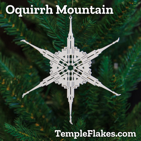 Oquirrh Mountain Utah Temple Christmas Ornament