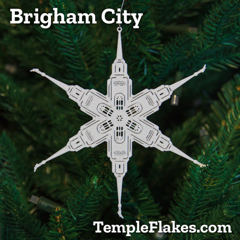Brigham City Utah Temple Christmas Ornament