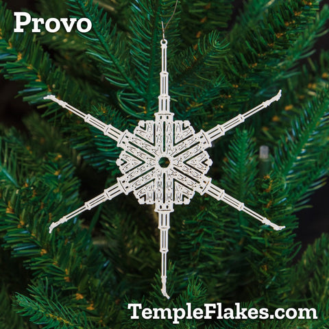 Provo Utah Temple Christmas Ornament