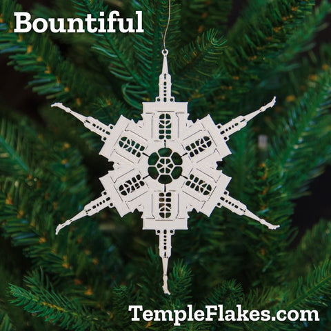 Bountiful Utah Temple Christmas Ornament