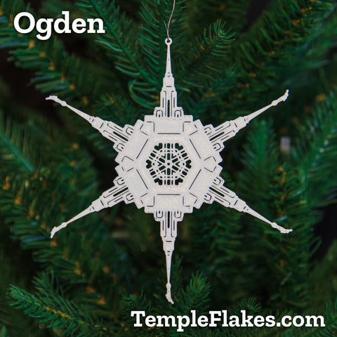 Ogden Utah Temple Christmas Ornament